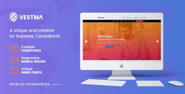VESTMA - Multipurpose Business, Consulting, Corporate PSD Template TFx Thornton Jayce