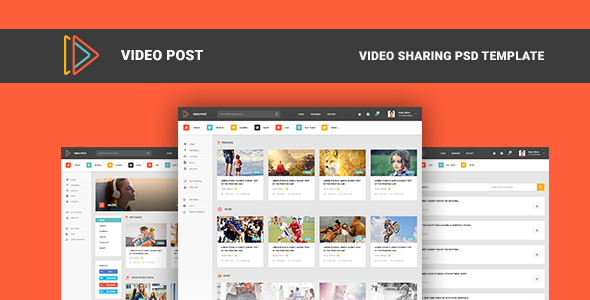 Video Post – Video Sharing PSD Template TFx Tim Lindsey