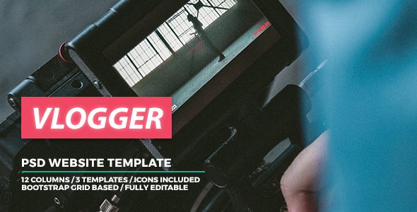 Vlogger - Video Website Template - Miscellaneous PSD Templates TFx Amery Warrick
