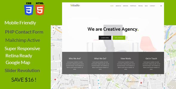 Vstudio - Onepage Parallax - Creative Site Templates TFx Osamu Shin