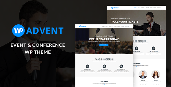 WPadvent - Event and Conference WordPress Theme TFx Stew Kurt