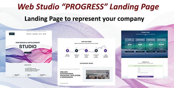 WebStudio Progress Landing Page – Business Corporate TFx Cheyenne Bryon