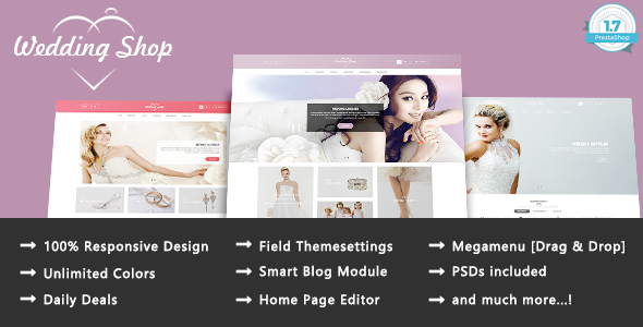 Wedding Paradise – Responsive Prestashop 1.7 Theme – Health & Beauty PrestaShop TFx Isamu Nickolas