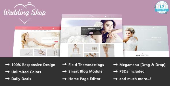 Wedding Paradise - Responsive Prestashop 1.7 Theme - Health & Beauty PrestaShop TFx Isamu Nickolas