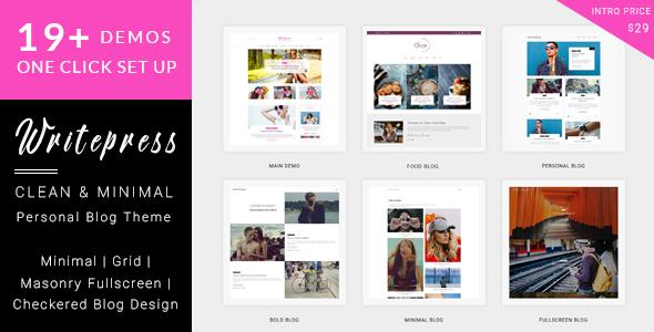 Writepress Personal Blog and Magazine WordPress Theme - Blog / Magazine WordPress TFx Gage Reynard
