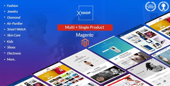 Xshop – Multi Store tMagento 2  Theme – Shopping Magento TFx Lucky Dwi