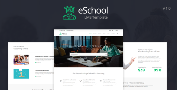 eSchool - Education & LMS HTML5 Template - Business Corporate TFx Channing Lesley