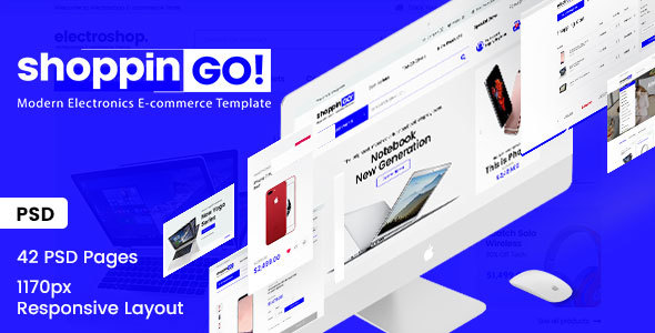 shoppinGO! - Electronics Modern E-Commerce PSD Template - Electronics Technology TFx Fredrick Camron