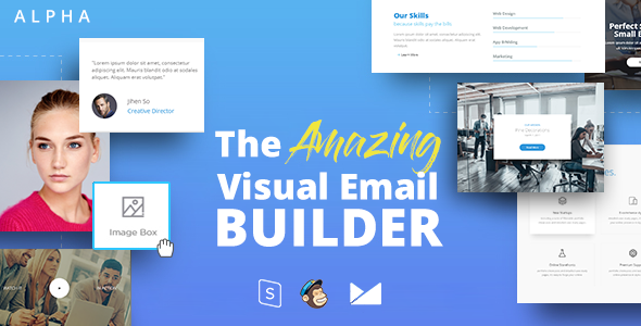 ALPHA – Responsive Email + StampReady Builder – Email Templates Marketing TFx Kurt Roy