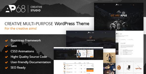 AP68 - Creative Multi-Purpose WordPress Theme - Portfolio Creative TFx Cosmo Hovsep
