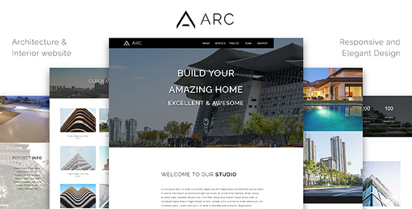 ARC_Architecture / Interior / Construction HTML Template - Corporate Site Templates TFx Sidney Hewie