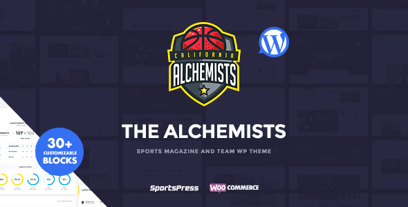 Alchemists - Sports Club and News WordPress Theme - Nonprofit WordPress TFx Lee Bruce