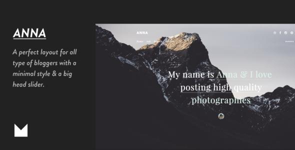 Anna - Responsive Grid Theme - Portfolio Tumblr TFx Crispin Willard