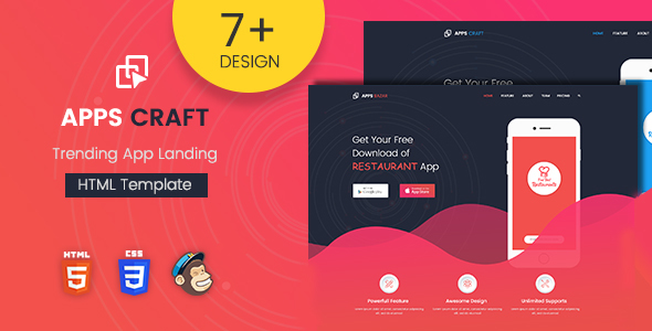 Apps Craft – App Landing Page – Landing Pages Marketing TFx Harvey Constant