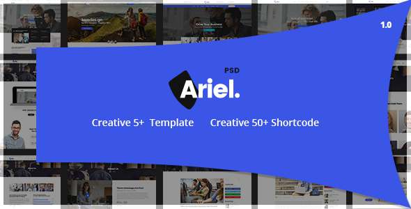 Ariel – Multi-Purpose PSD Template – Creative PSD Templates TFx Robby Weldon