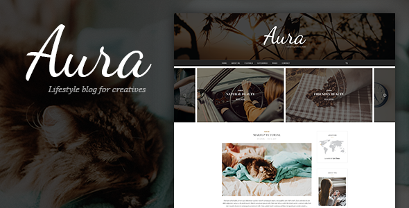 Aura - Personal Blog PSD Template focused on Blogger, Traveler, Photographer needs with PSD Files - Personal PSD Templates TFx Justy Macbeth