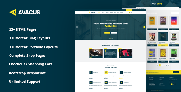 Avacus – Business Consulting and Agency Services HTML5 Template - Business Corporate TFx Parker Arata