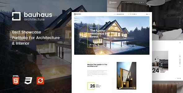 Bauhaus - Architecture & Interior Drupal 8 Theme - Portfolio Creative TFx David Hinata