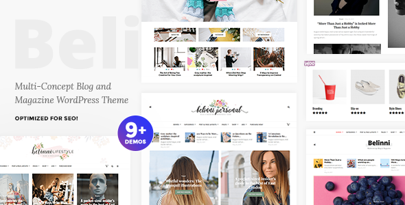 Belinni - Multi-Concept Blog / Magazine WordPress Theme - Blog / Magazine WordPress TFx Maurice Dylan