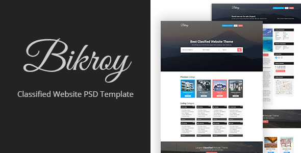 Bikroy - Classified, Directory Listing Website PSD Template - Miscellaneous PSD Templates TFx Tom Ryoichi