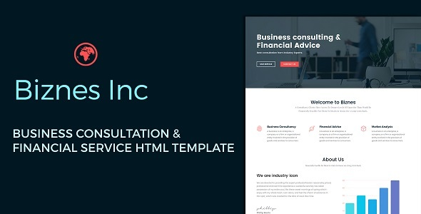 Biznes Inc – Business Consulting and Financial Services HTML Template – Business Corporate TFx Lynwood Agung