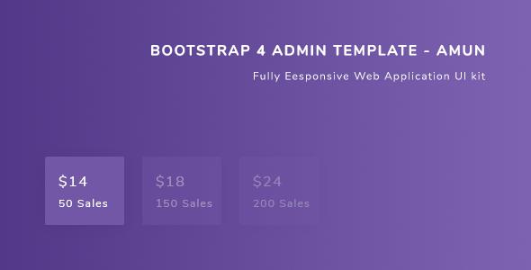 Bootstrap 4 Admin Template - Amun - Admin Templates Site Templates TFx Suharto Alan