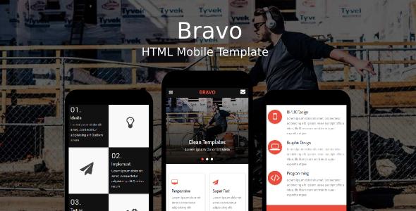 Bravo - HTML Mobile Template - Mobile Site Templates TFx Vere Redd