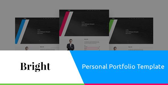 Bright Personal Portfolio PSD Template - Portfolio Creative TFx Junior Melvin