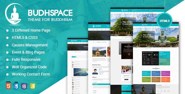 Buddha BuddyPress HTML Template - Churches Nonprofit TFx Ethan Pearce