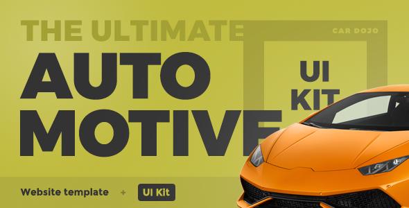 Car Dojo - The Ultimate Auto Dealers Marketplace & Rental Parks HTML UI Kit Website Template - Business Corporate TFx Daichi Rowan