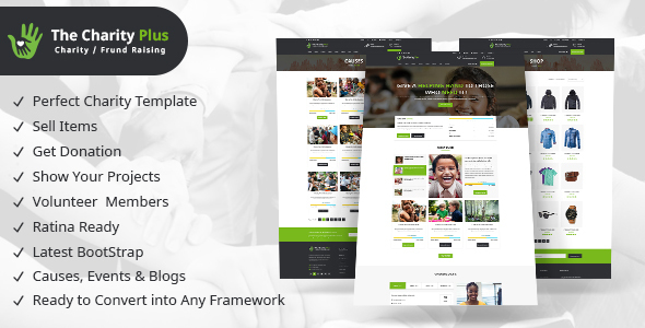 Charity - The Charity Plus HTML Template - Charity Nonprofit TFx Osborne Xerxes