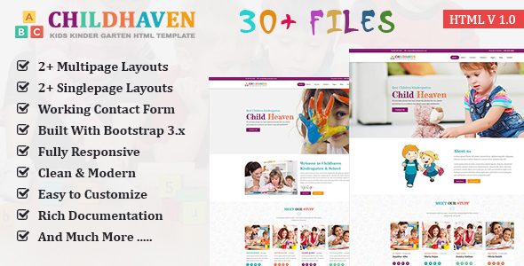 ChildHaven - Kids School & Kinder Garten HTML5 Template - Children Retail TFx Hideki Dean