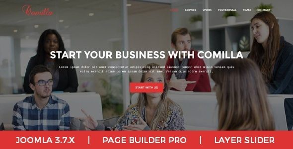 Comilla - Digital Agency One Page Business Joomla Theme - Corporate Joomla TFx Brice Clive