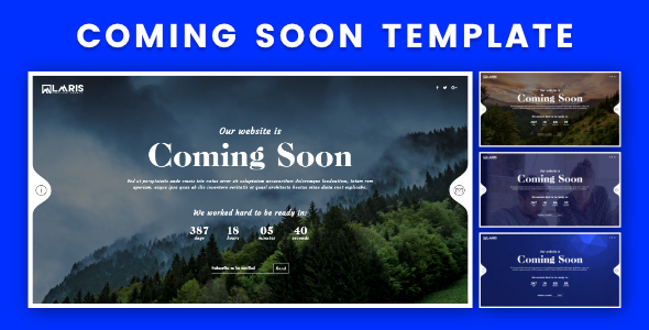 Coming Soon HTML Template - Under Construction Specialty Pages TFx Caedmon Austin