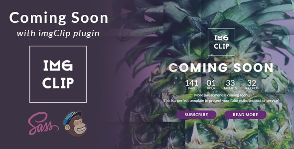 Coming Soon Template with imgClip Plugin - Under Construction Specialty Pages TFx Ohannes Suleiman