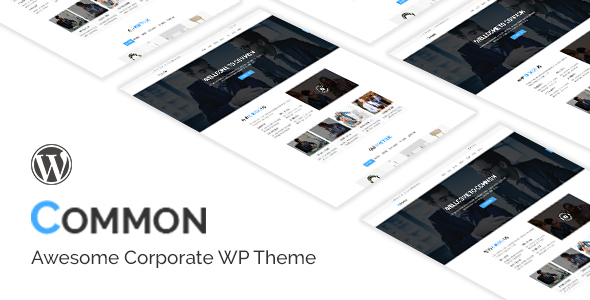 Common- One Page and Multipages WordPress Theme - Business Corporate TFx Jerold Granville
