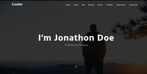 Cooler - Minimal Personal Portfolio Template - Personal Site Templates TFx Wira Cory