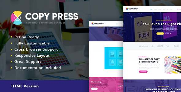 CopyPress | Type Design & Printing Services HTML Template - Retail Site Templates TFx Grover Benedict