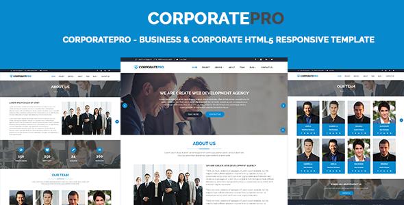 CorporatePro - Business & Corporate HTML5 Responsive Template - Corporate Site Templates TFx Pépin Talon