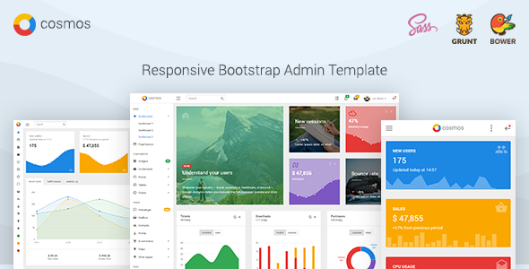 Cosmos - Responsive Bootstrap Admin Dashboard Template - Admin Templates Site Templates TFx Cheyenne Billie