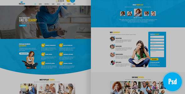 CourseSK Psd Template - PSD Templates  TFx Larry Tyrone