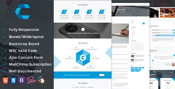 Create — Multipurpose Responsive Template - Corporate Site Templates TFx Arvel Piers