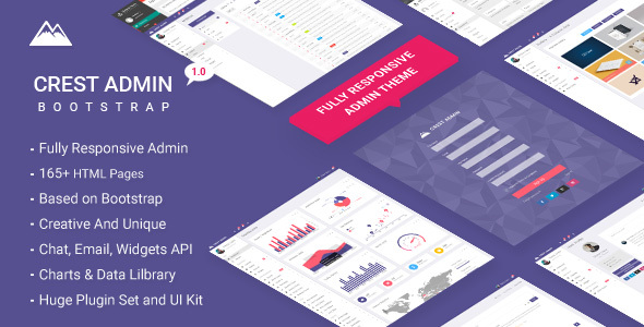 Crest Bootstrap Admin Theme - Admin Templates Site Templates TFx Hedley Yuudai