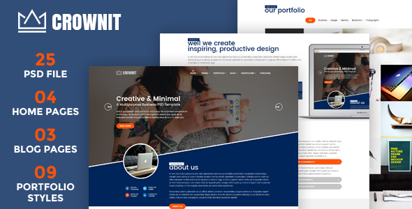 CrownIT - Multipurpose PSD Template - Business Corporate TFx Byrne Moses
