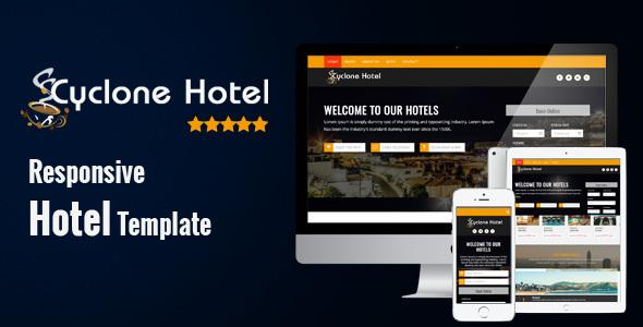 Cyclone Hotel - Responsive Hotel Template - Travel Retail TFx Kirk Brenden