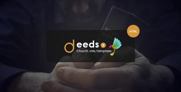 Deeds2 - An HTML Template for Church Websites and NonProfit Organizations - Churches Nonprofit TFx Lucan Jarrett
