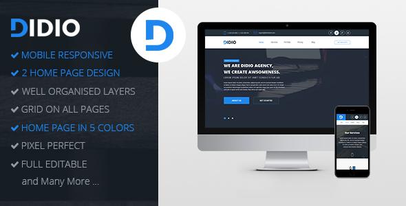 Didio | Responsive Agency PSD Template - Portfolio Creative TFx Blake Joel