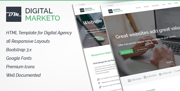 Digital Agency HTML Template – Technology Site Templates TFx Donnie Osamu