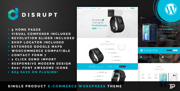 Disrupt - WooCoommerce Product WordPress Theme - Technology WordPress TFx Cajetan Sanford