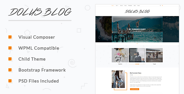 Dolus - Blog WordPress Theme - Blog / Magazine WordPress TFx Alva Rikuto